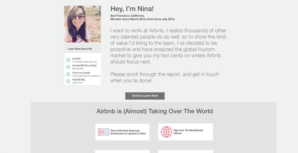 nina4airbnb.com è il minisito creato da nina mufleh