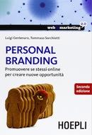 Copertina libro Personal Branding della HOEPLI di Luigi Centenaro e Tommaso Sorchiotti
