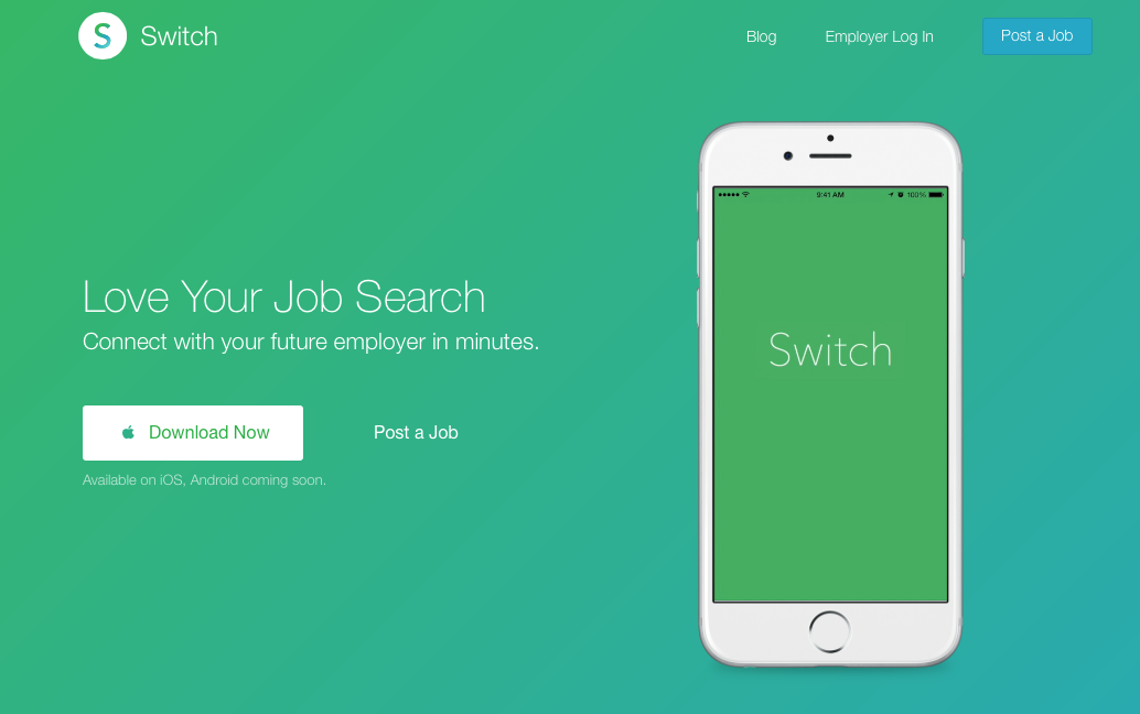 Switch: mobile job search app