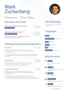 Mark Zuckerberg Curriculum Prima Pagina