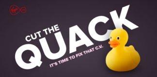Il logo di Cut The Quack! lo strumento di Virgin che ti rinfresca il curriculum