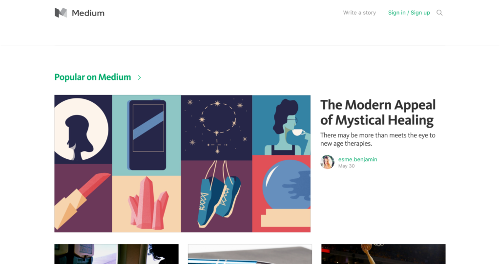 medium è una piattaforma di pubblicazione