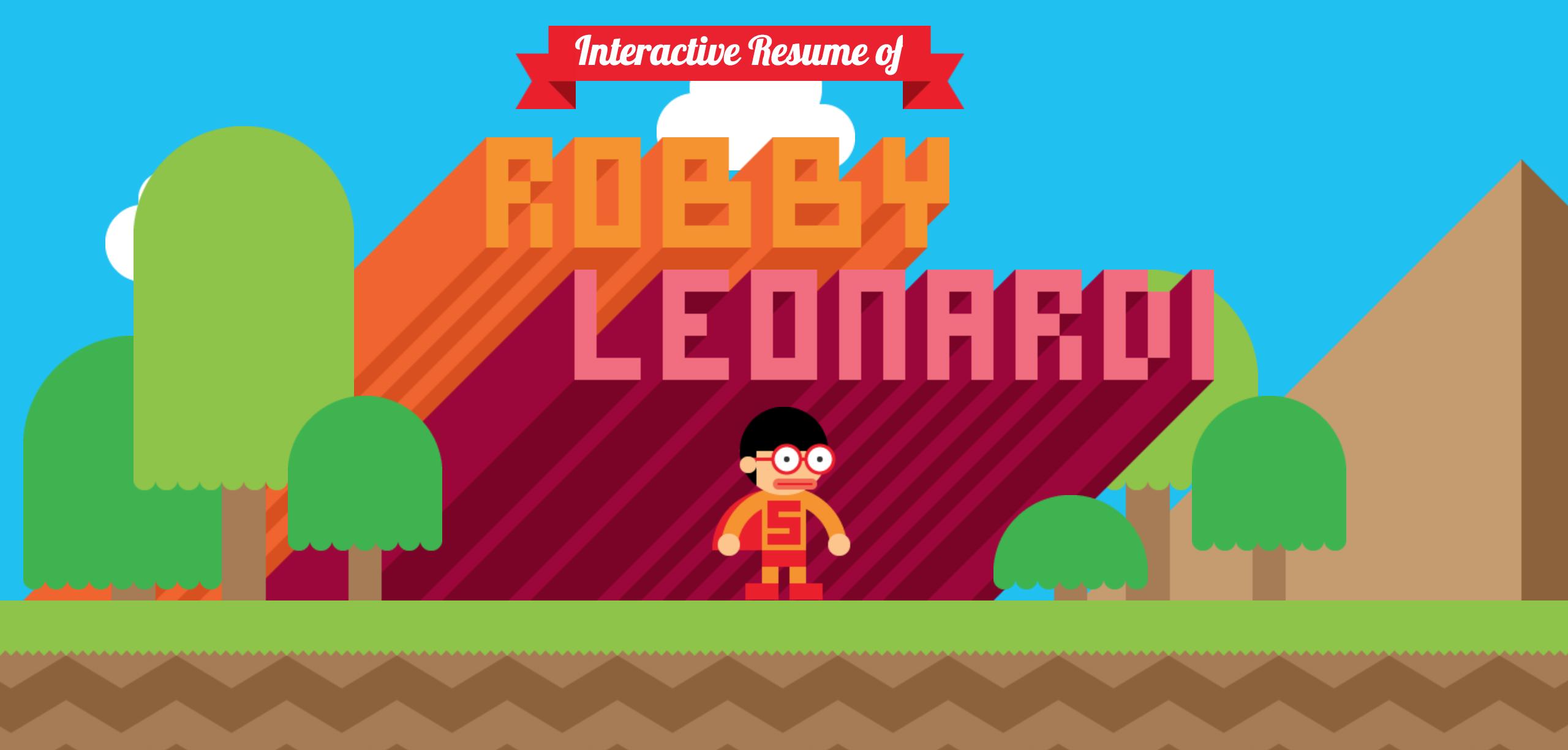il cv interattivo di Robby Leonardi